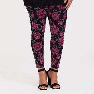 Torrid rose print leggings 3